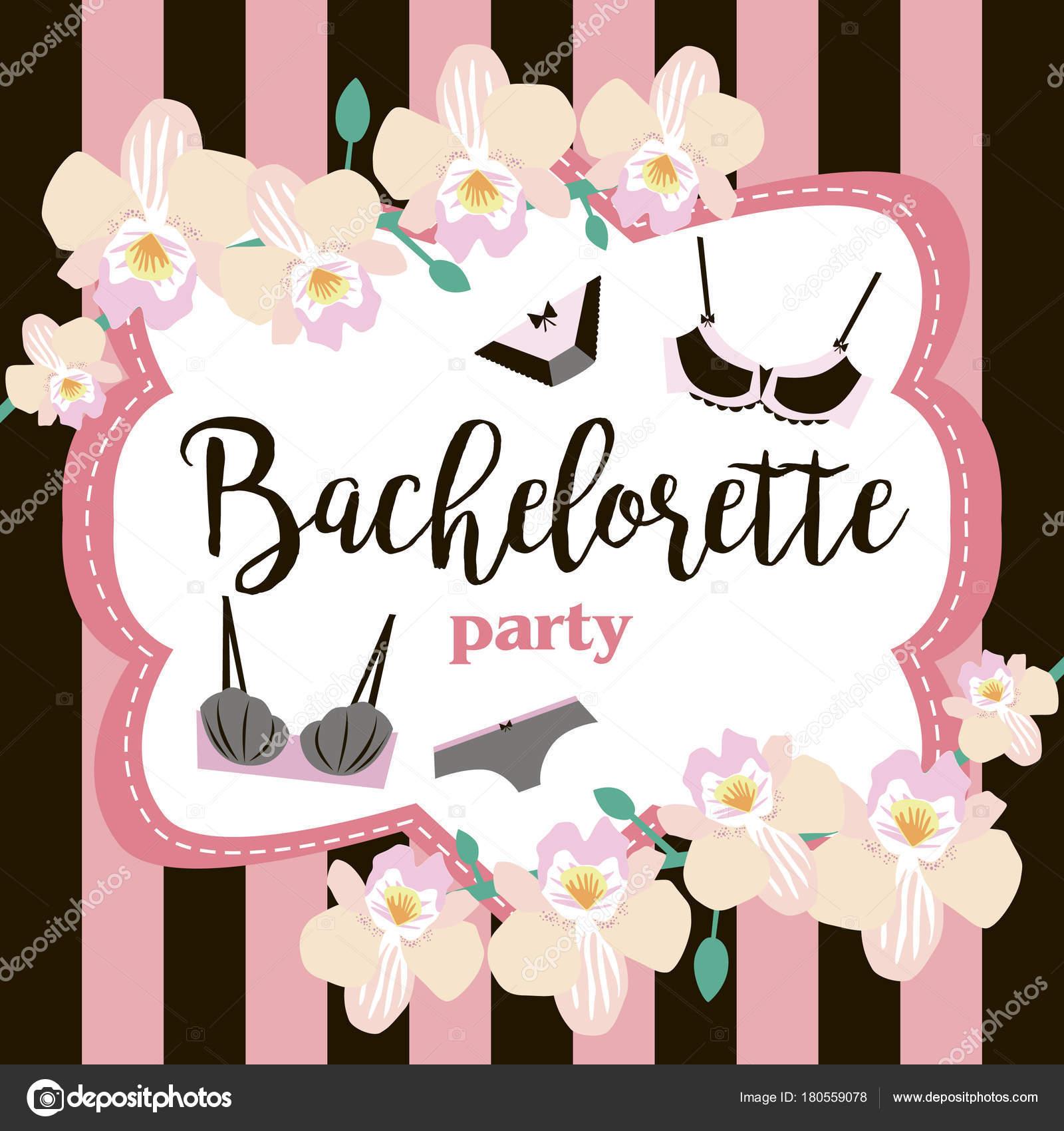 Lingerie Party Invitation Cards Beautiful Underwear Bachelorette ...