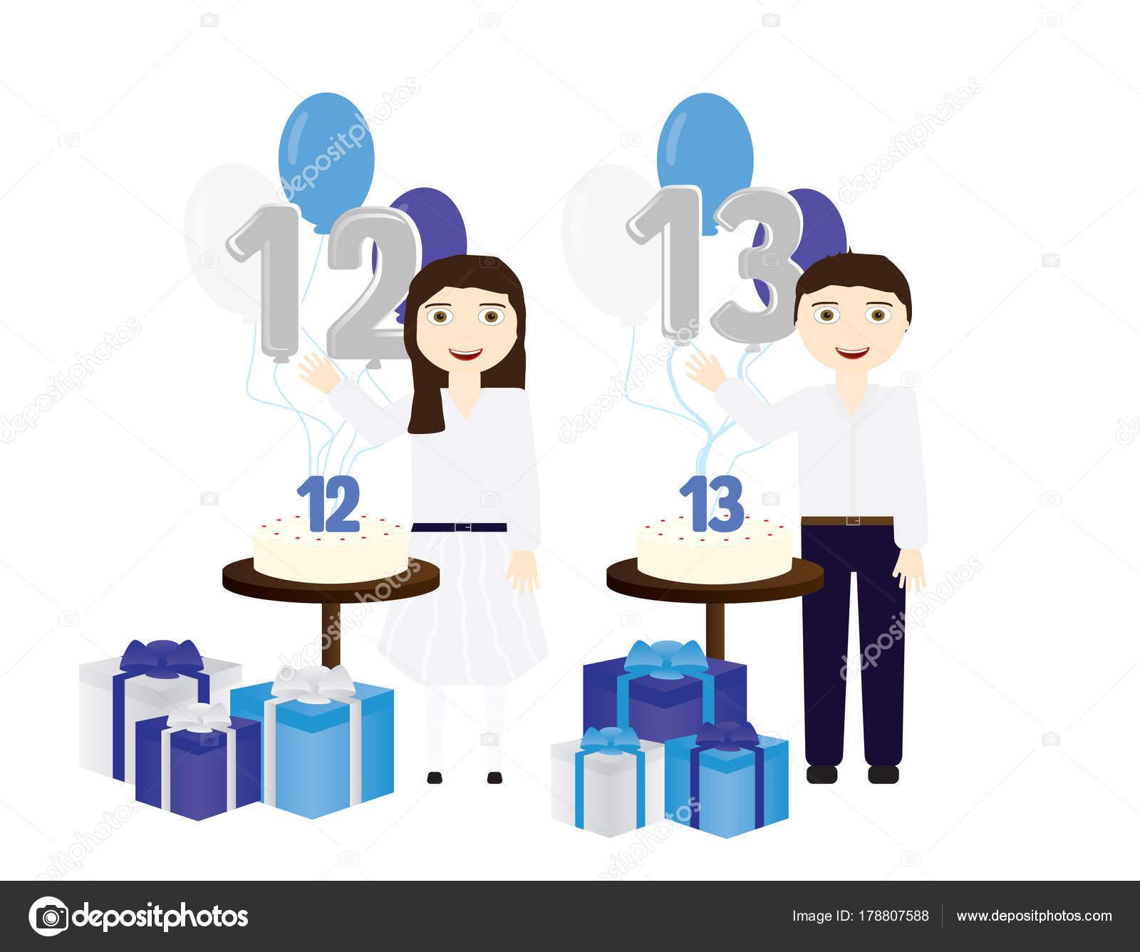 Jüdischen Jungen und Mädchen, die Bar Mizwa und Bat Mizwa Feiern ...