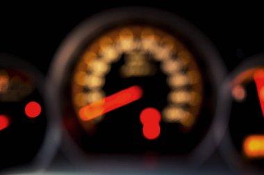 Blurred Speed Gauge in car
