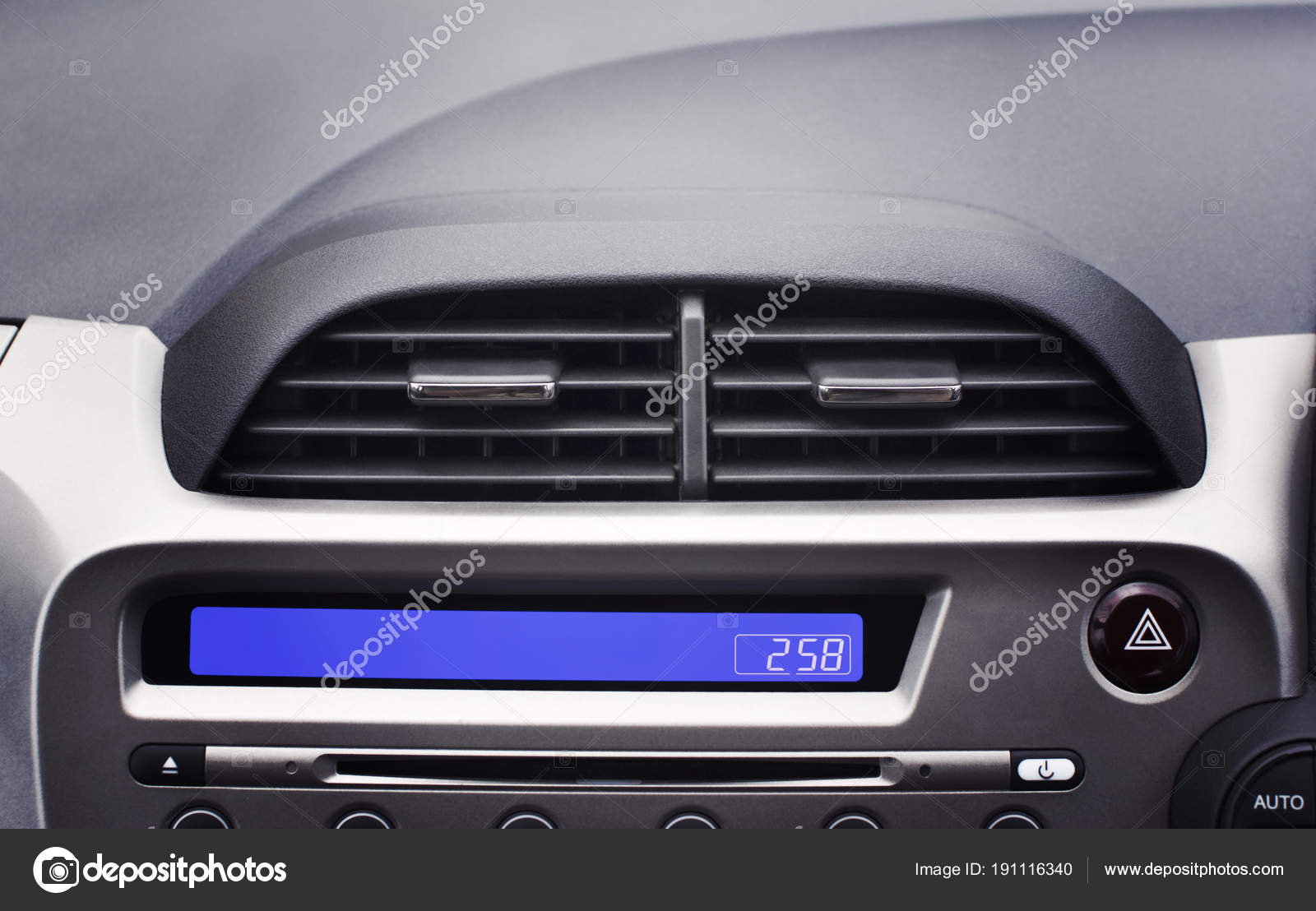 auto airconditioner in het interieur voorpassagier voor aanpassen luchtstroom selectieve aandacht automotive deel concept foto van