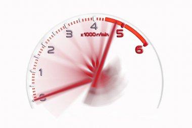 Rpm gauge symbol in racing car.