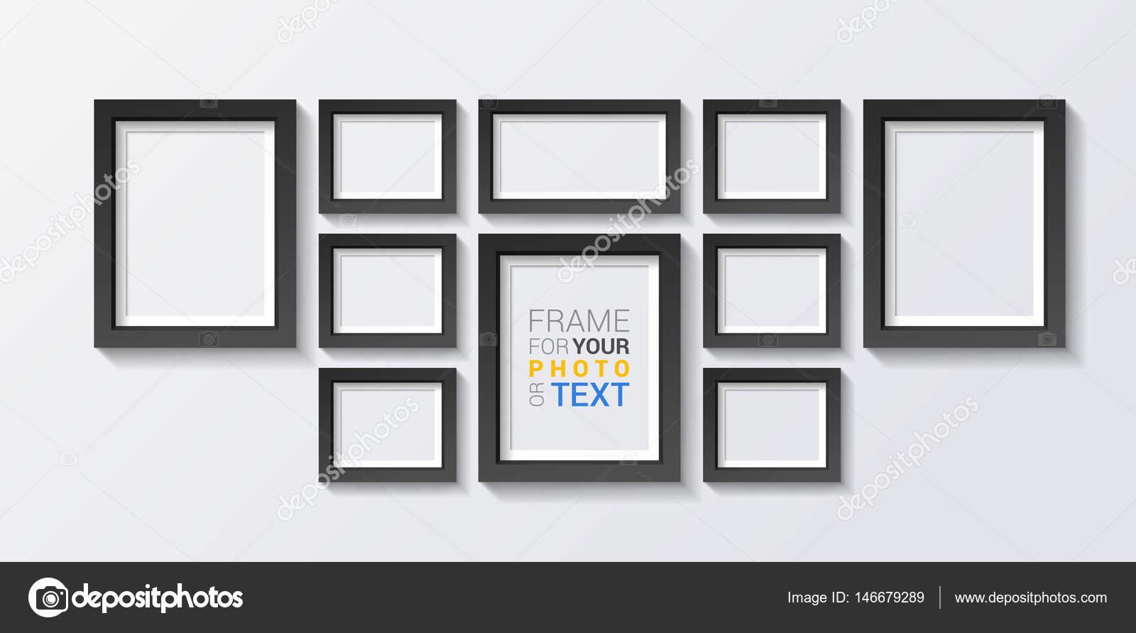 conjunto de marcos de diseño en 3d — Archivo Imágenes Vectoriales ...
