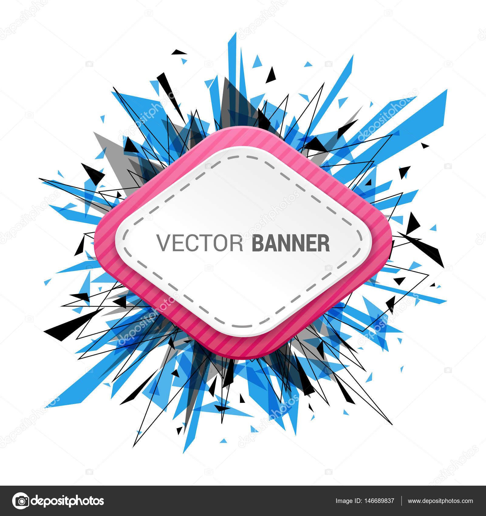 White Blank Banner Stock Vector