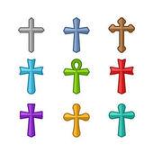 Fotografie Set of different crosses