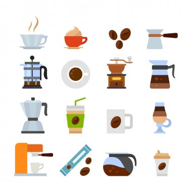 set of different coffee icons