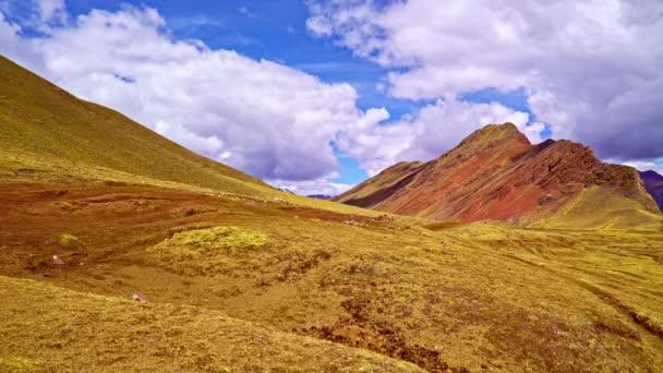 A szivárvány-hegység közelében Cuzco, Peru