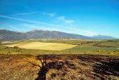 Fotografie Podzimní pohled na hory Baranec a Kriváň od Haj - Nicovo Liptovský Mikuláš a okolí