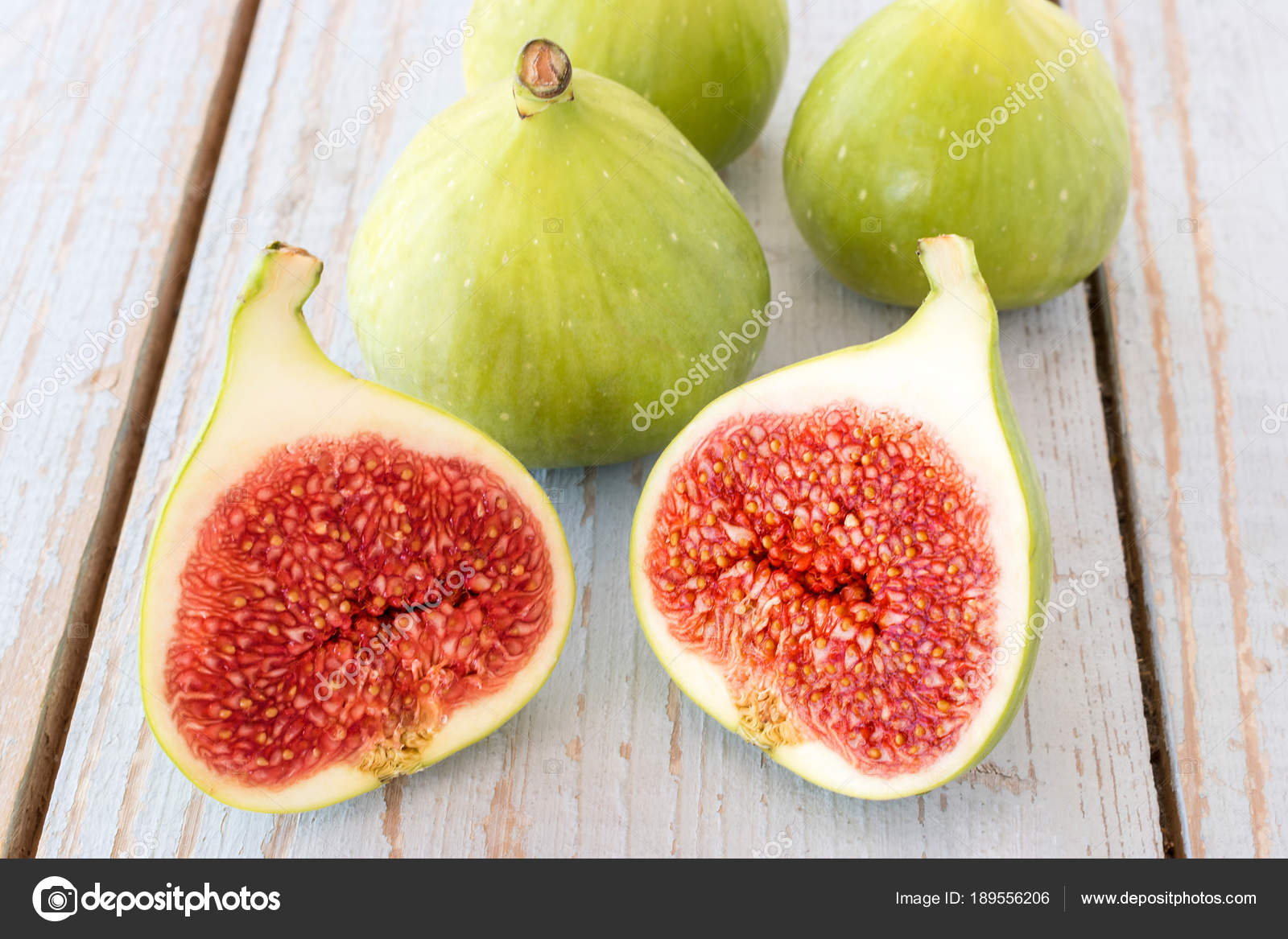 Whole Figs One Fig Sliced Half Top Garden Table Focus