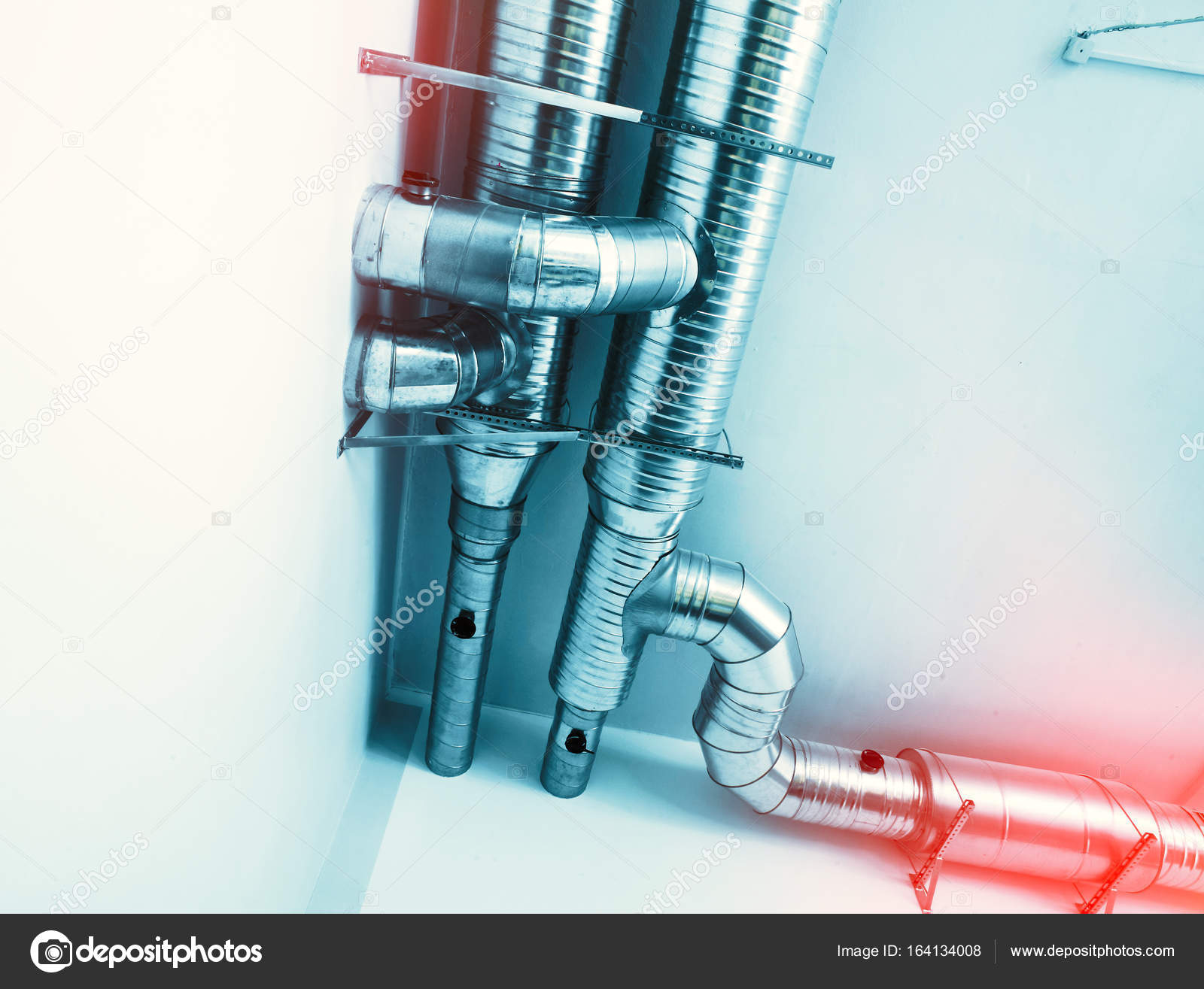 Ventilation pipes of an air condition — Stock Photo © nostal6ie ...