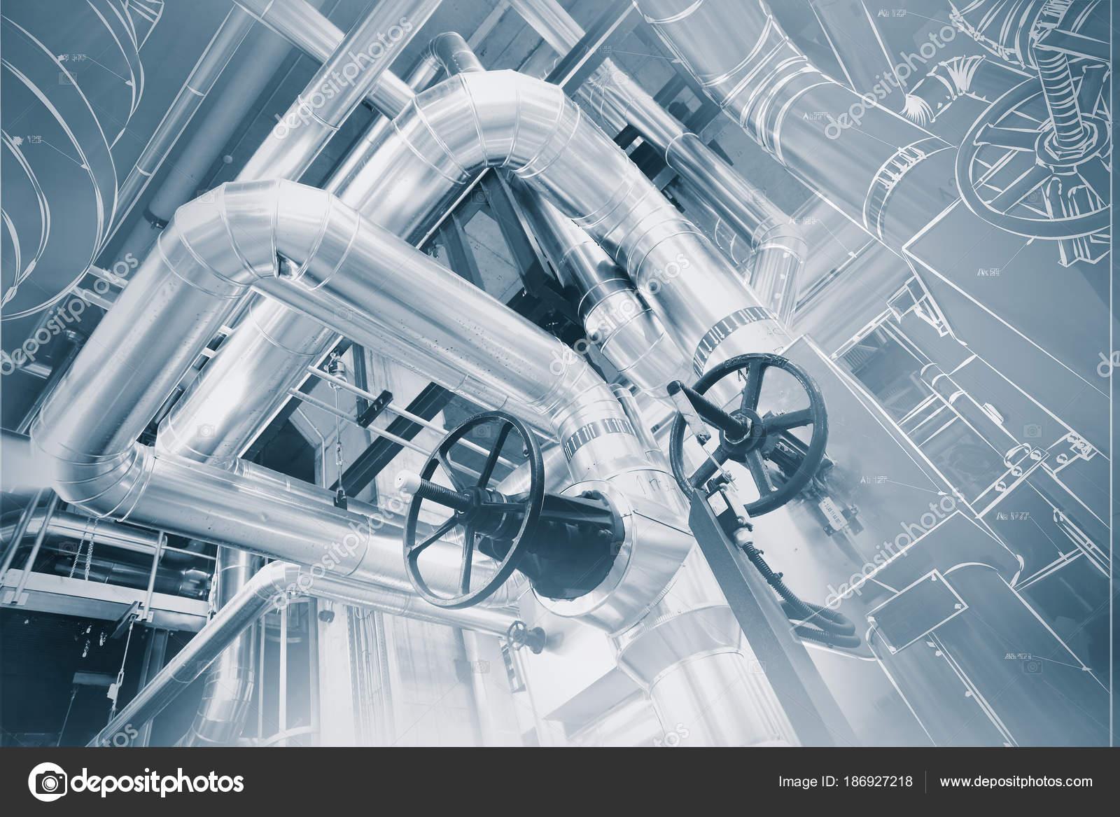 Conception De Cao Ordinateur Filaire De Pipelines Industriel Moderne
