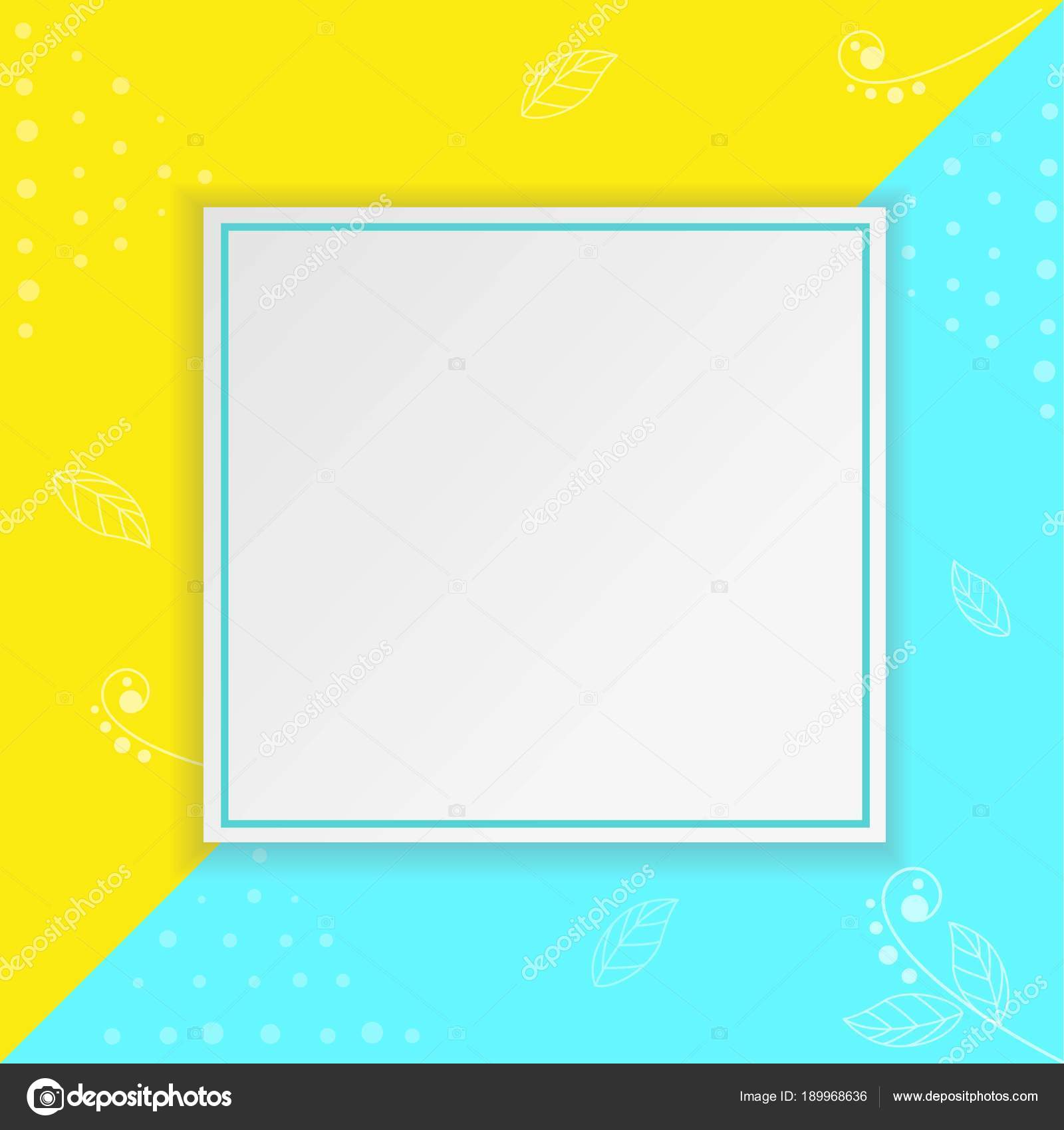Papier-Rahmen auf hellem Hintergrund — Stockvektor © natka80 #189968636