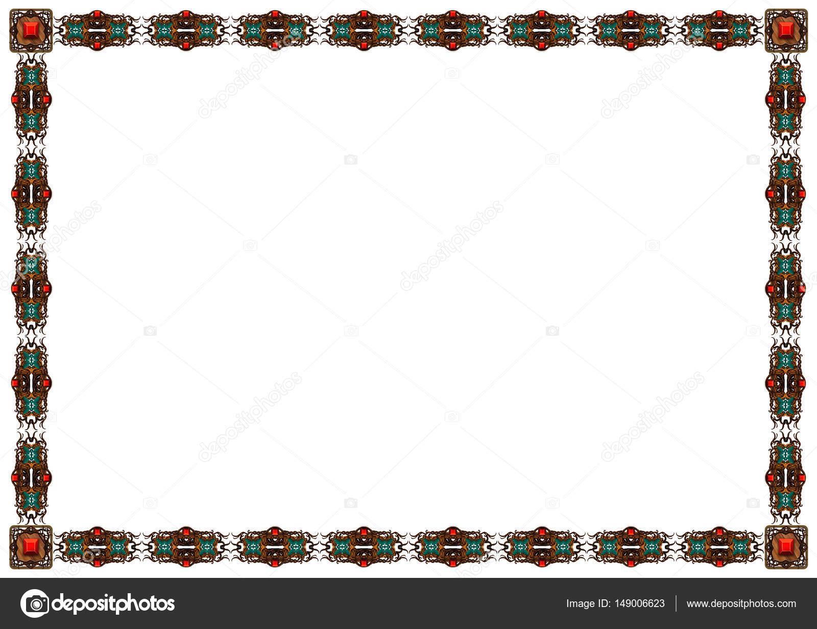 Marco de madera exquisitos ornamentos tallados — Fotos de Stock ...