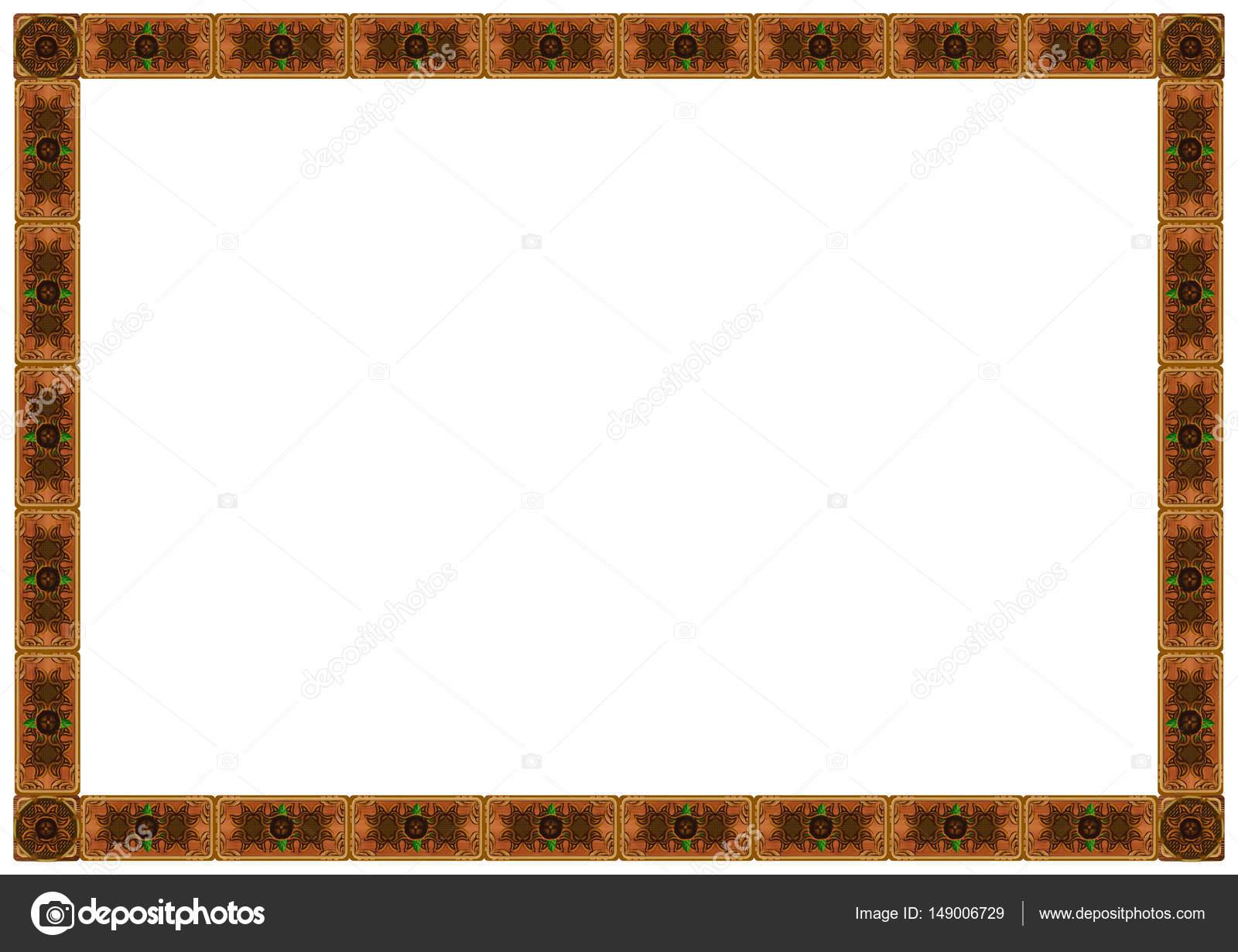 Marco de madera exquisitos ornamentos tallados — Foto de stock ...