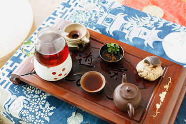 Chinese people drink tea life style, still life