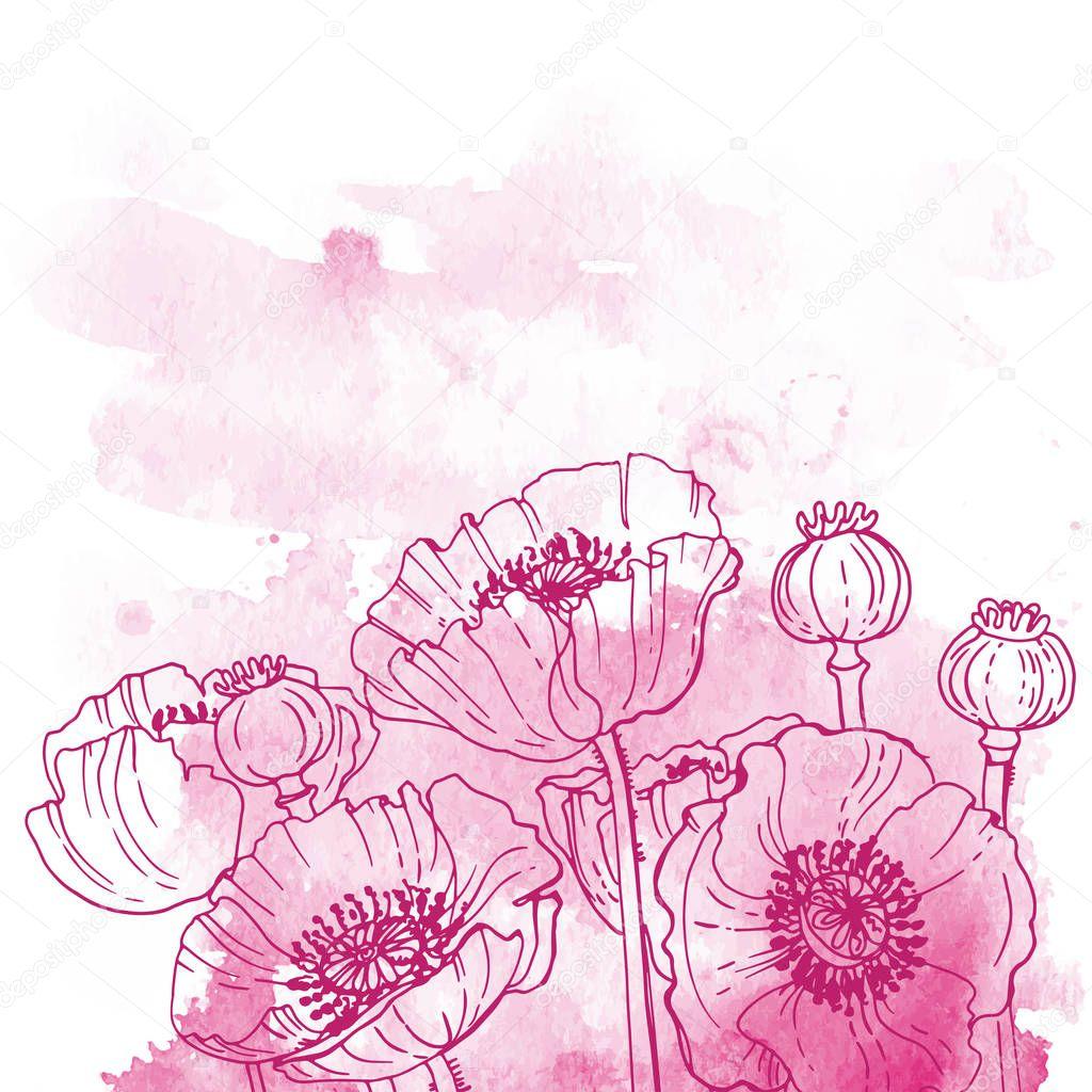 beautiful hand-drawn flowers