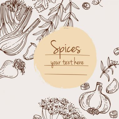 spices card template