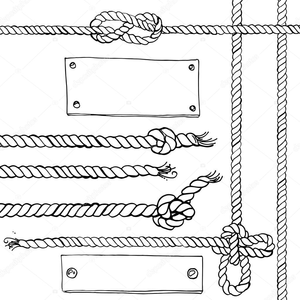 marine ropes and frames
