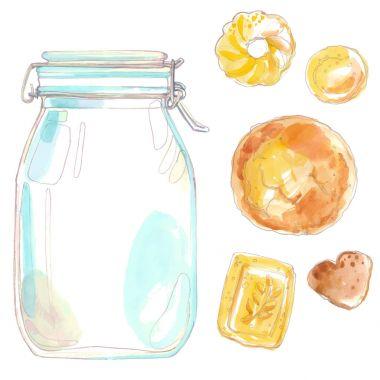 jar for cookies watercolor set