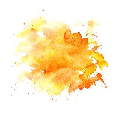 watercolor paint blot