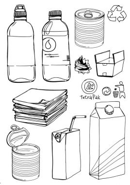 Sketch of recyclable materials