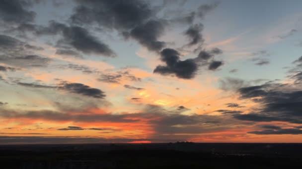 krásný západ slunce pozadí časová prodleva