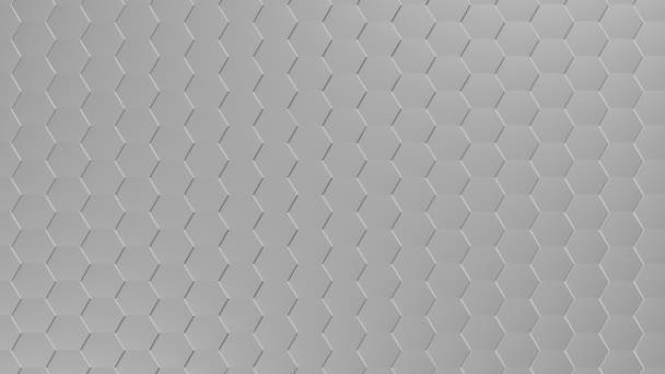 eine abklingende und montierte Wand aus Sechsecken. nahtlose Schleife