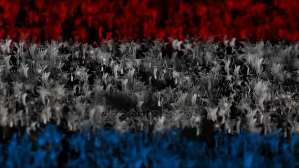 eroe di stelle. tricolor di stelle impennate. sfondo astratto. ciclo senza cuciture