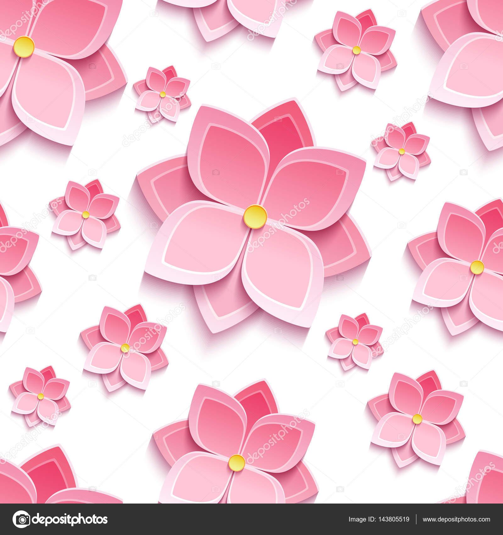 Floral Pattern Sans Soudure A La Fleur De Sakura Image Vectorielle