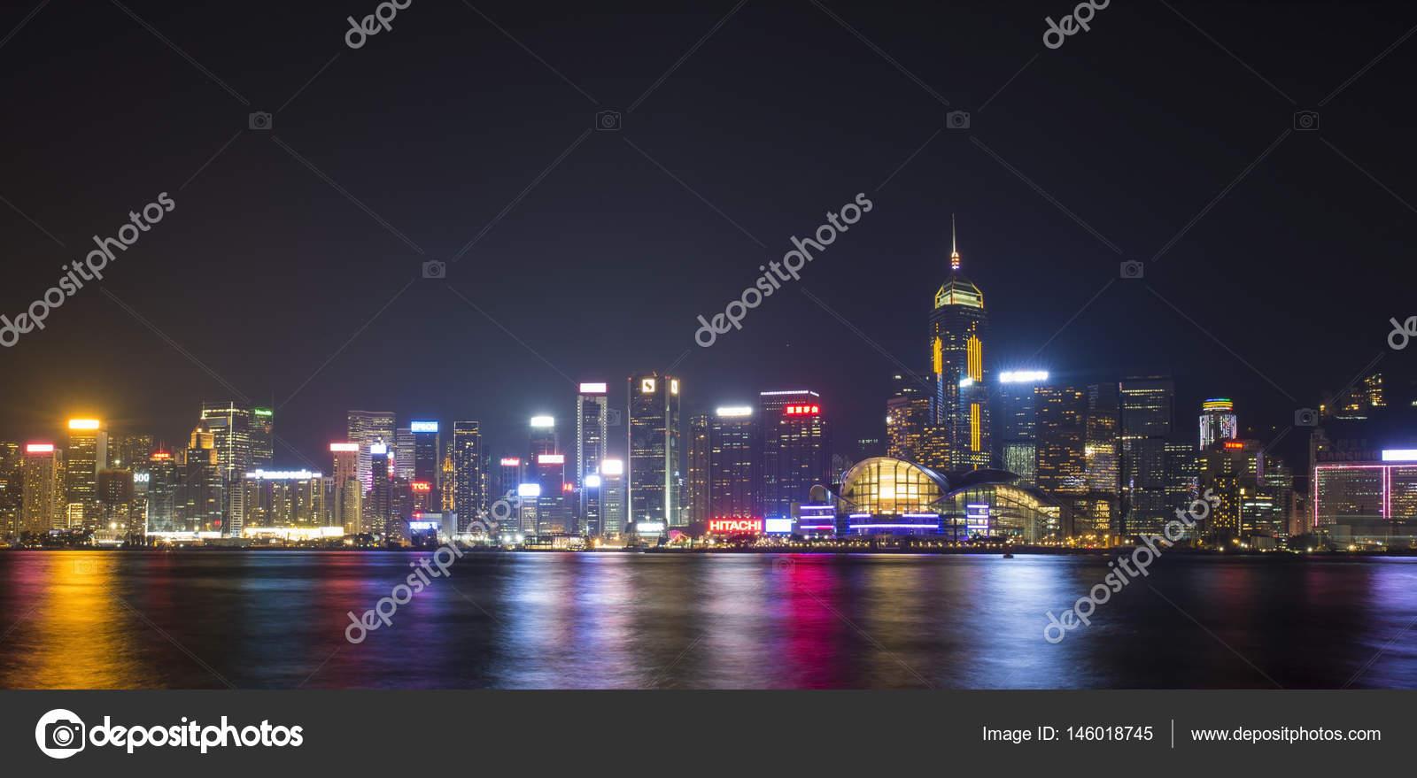 Hong Kong   14 De Janeiro De 2015 Symphony Of Lights   Luz E Som Mostrar