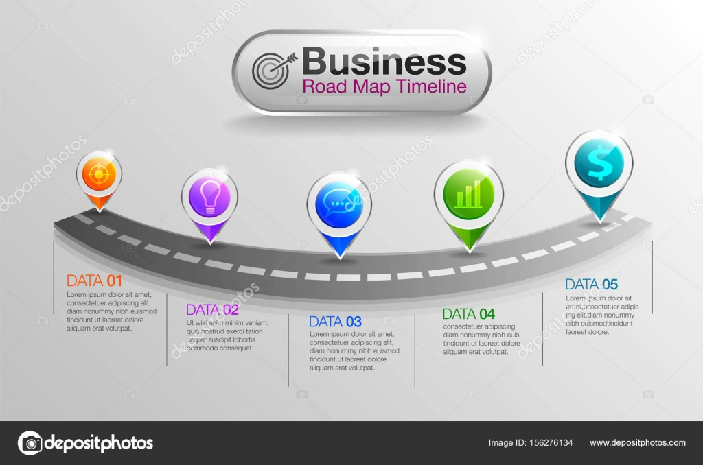 infographic business roadmap timeline stock vector