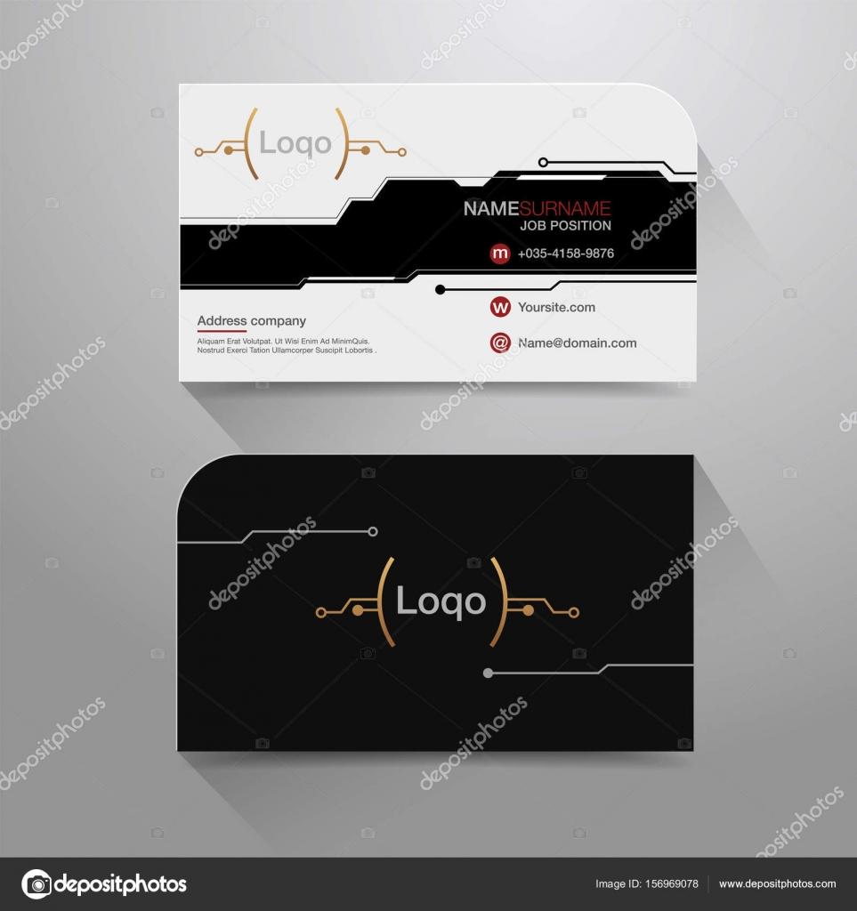 Name Visitenkarte Digital Stockvektor Vectorman2017