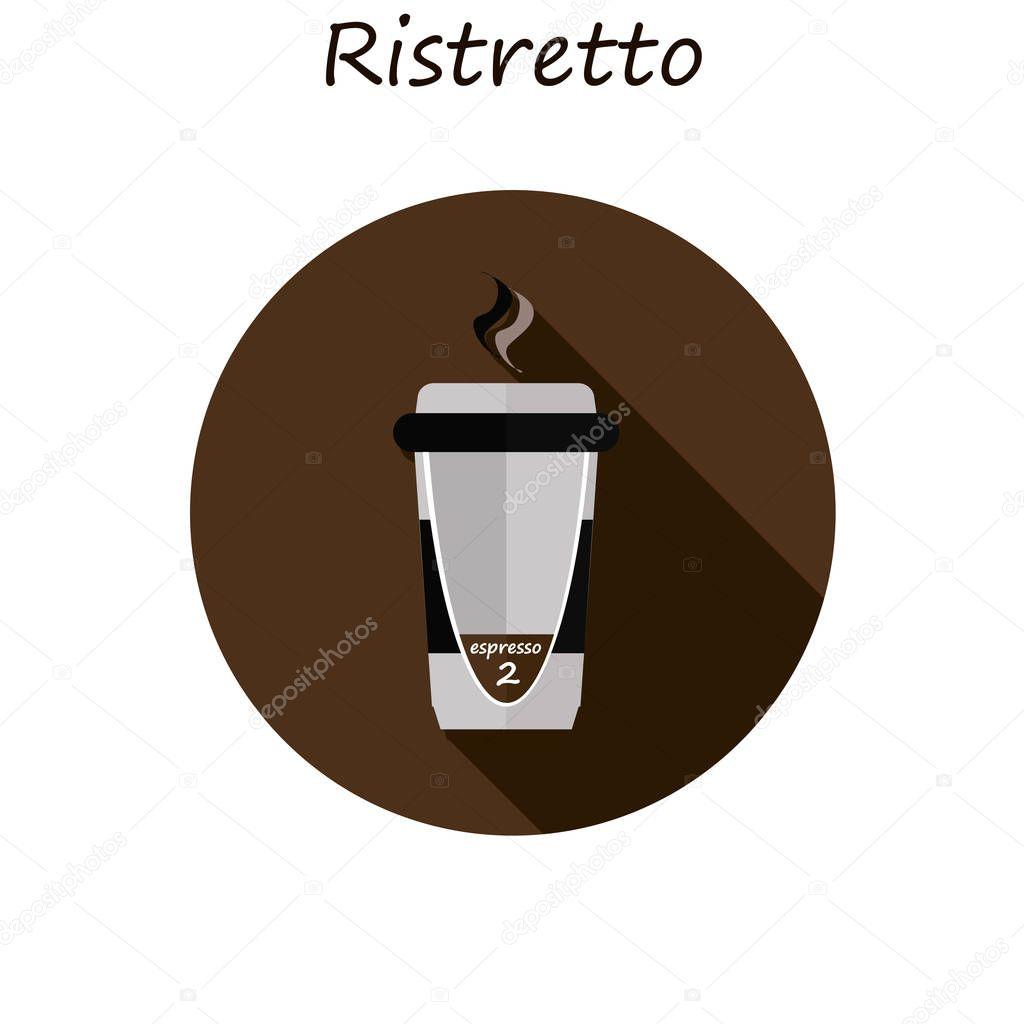 Ristretto, coffee in a paper cup