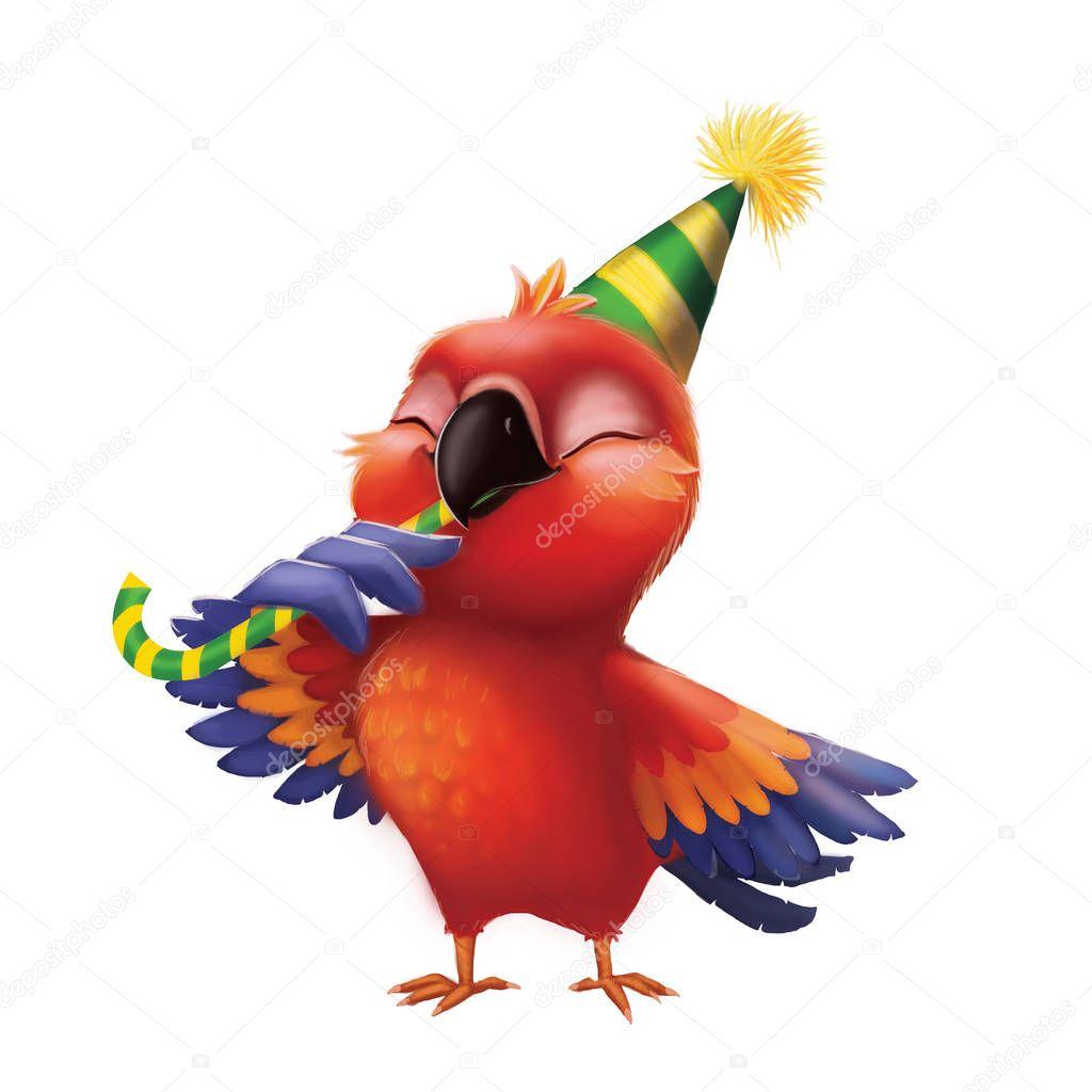С днем рождения картинка с попугаями