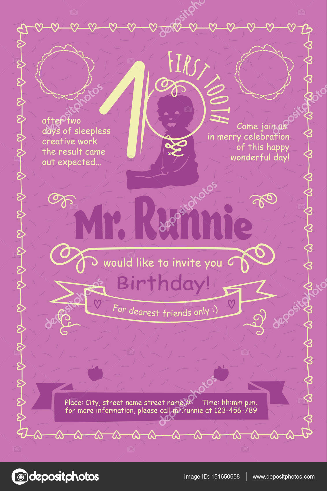 Birthday invitation flier with hand drawn calligraphic frames birthday invitation flier with hand drawn calligraphic frames borders and swirls stock vector filmwisefo