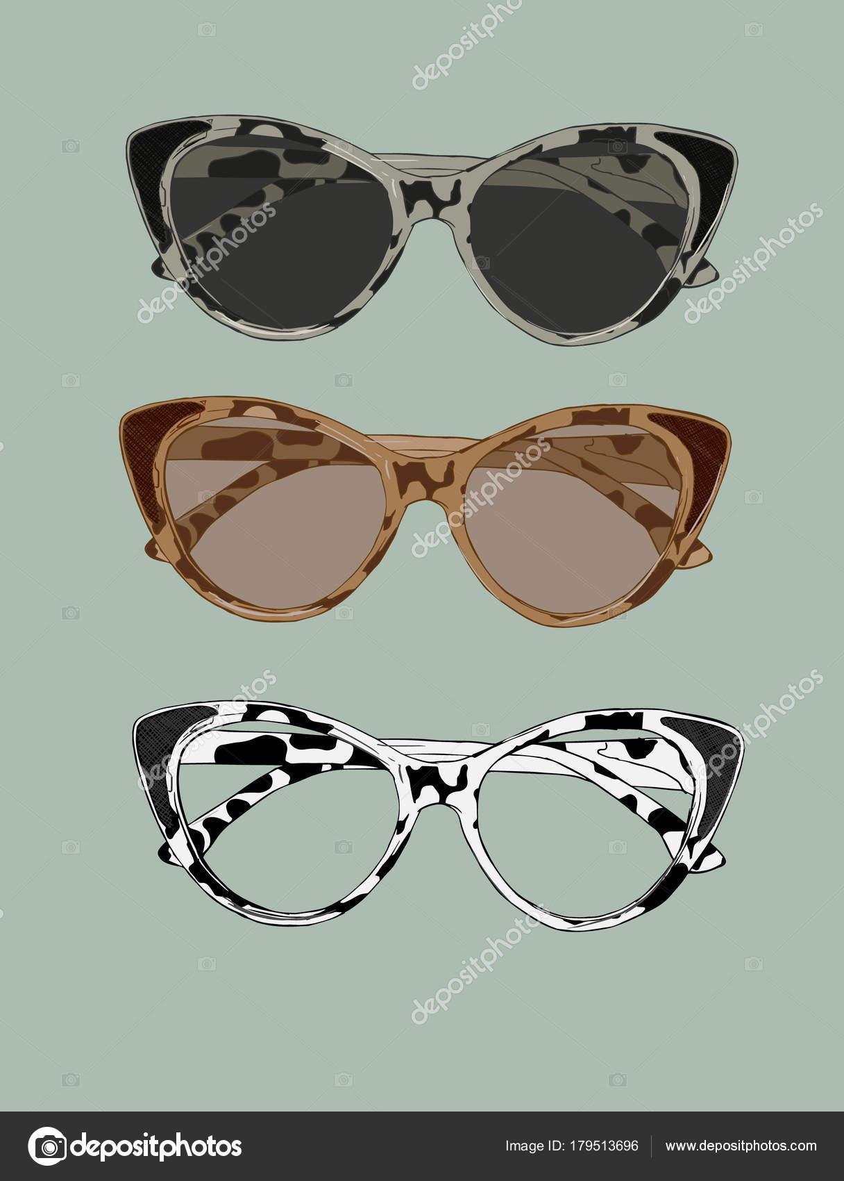 Ilustración de retro gafas de ojo de gato. Vector de desgaste del ...