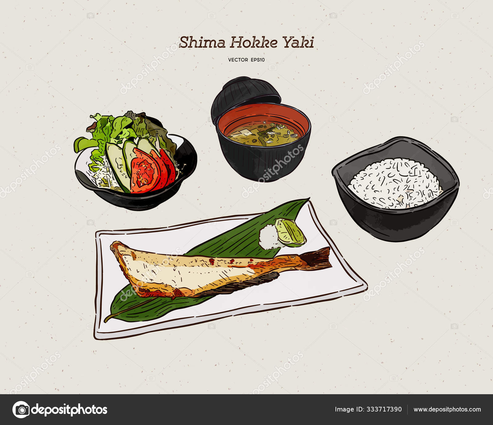 Carbon A La Parrilla Atka Mackerel Shima Hokke Cocina Japonesa