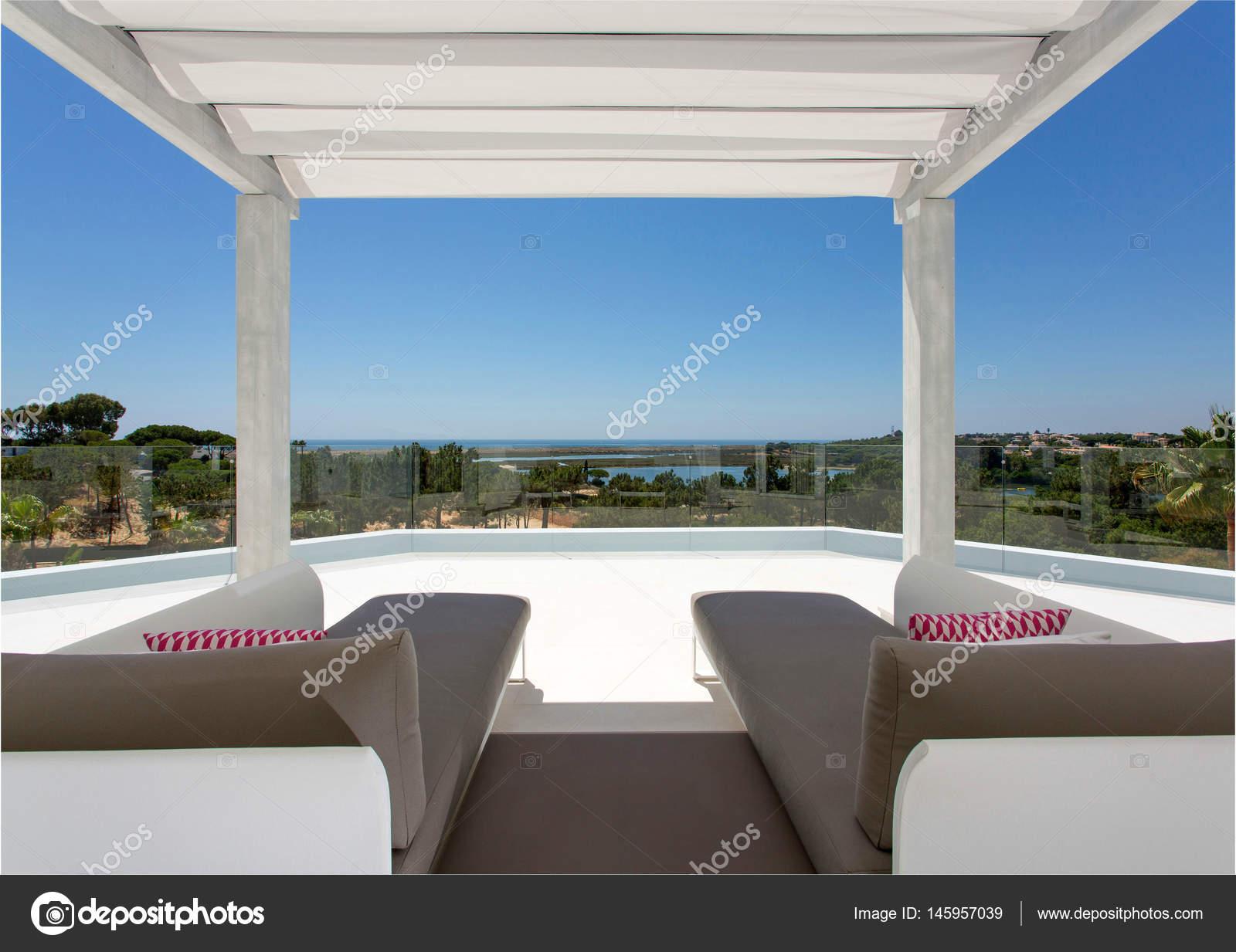 Modern house background stock photo