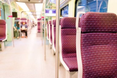 Interior of modern train