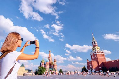 woman taking photo on Red Square