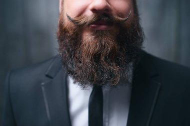 Perfect beard and moustache