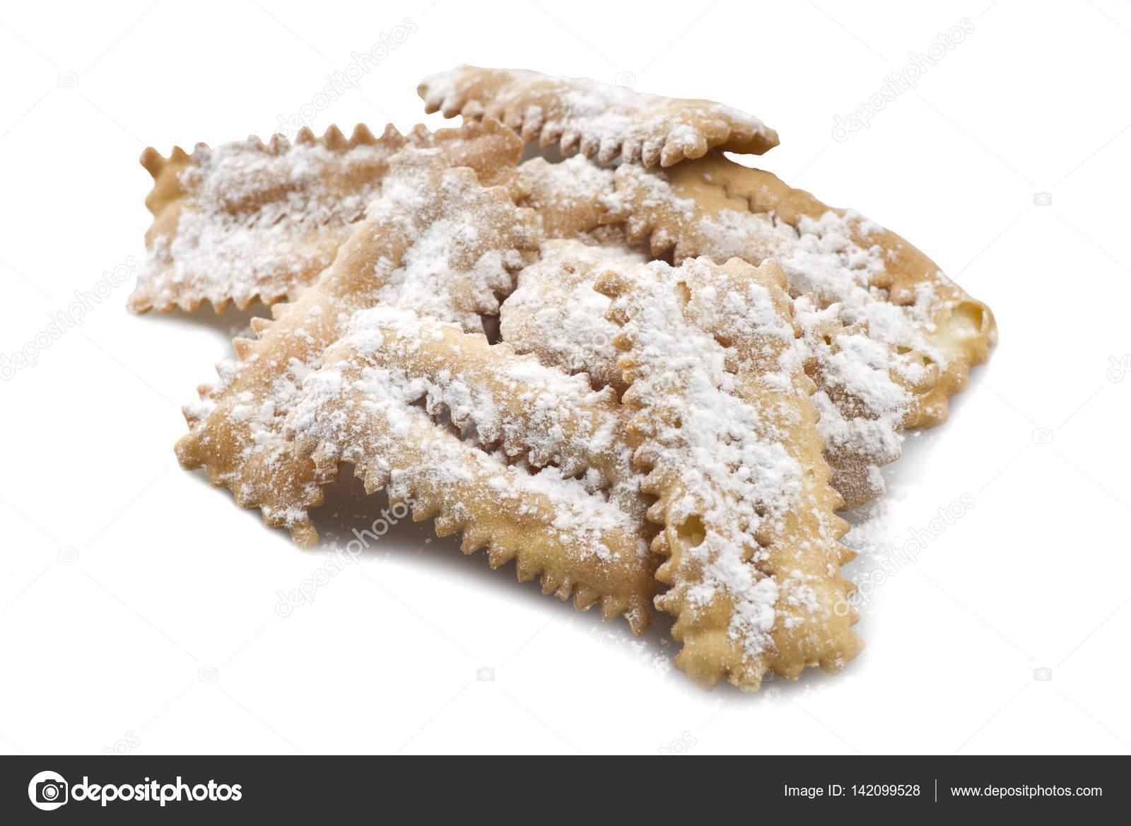 Typische Italienische Kuchen Chiacchere Stockfoto C Orlando B