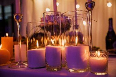 beautiful wedding decor, restaurant, ceremony