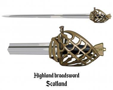 Scottish Highland backsword a hilt stone baskets