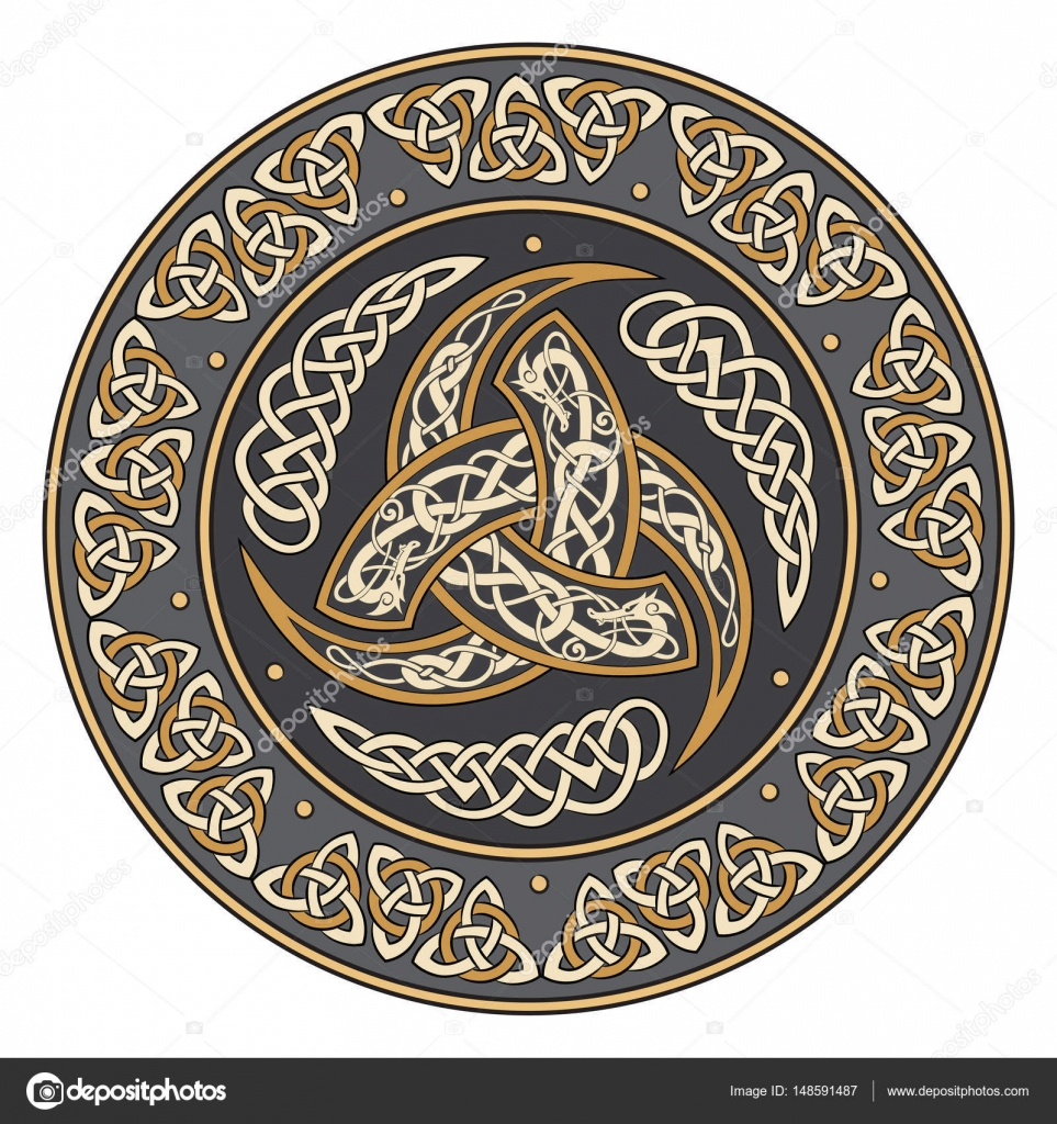 Triple horn of odin decorated with scandinavian ornaments stock triple horn of odin decorated with scandinavian ornaments stock vector buycottarizona