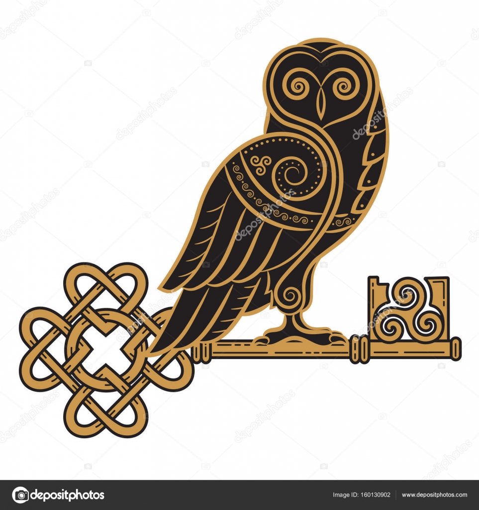The celtic design owl and key in the celtic style a symbol of the celtic design owl and key in the celtic style a symbol of wisdom buycottarizona