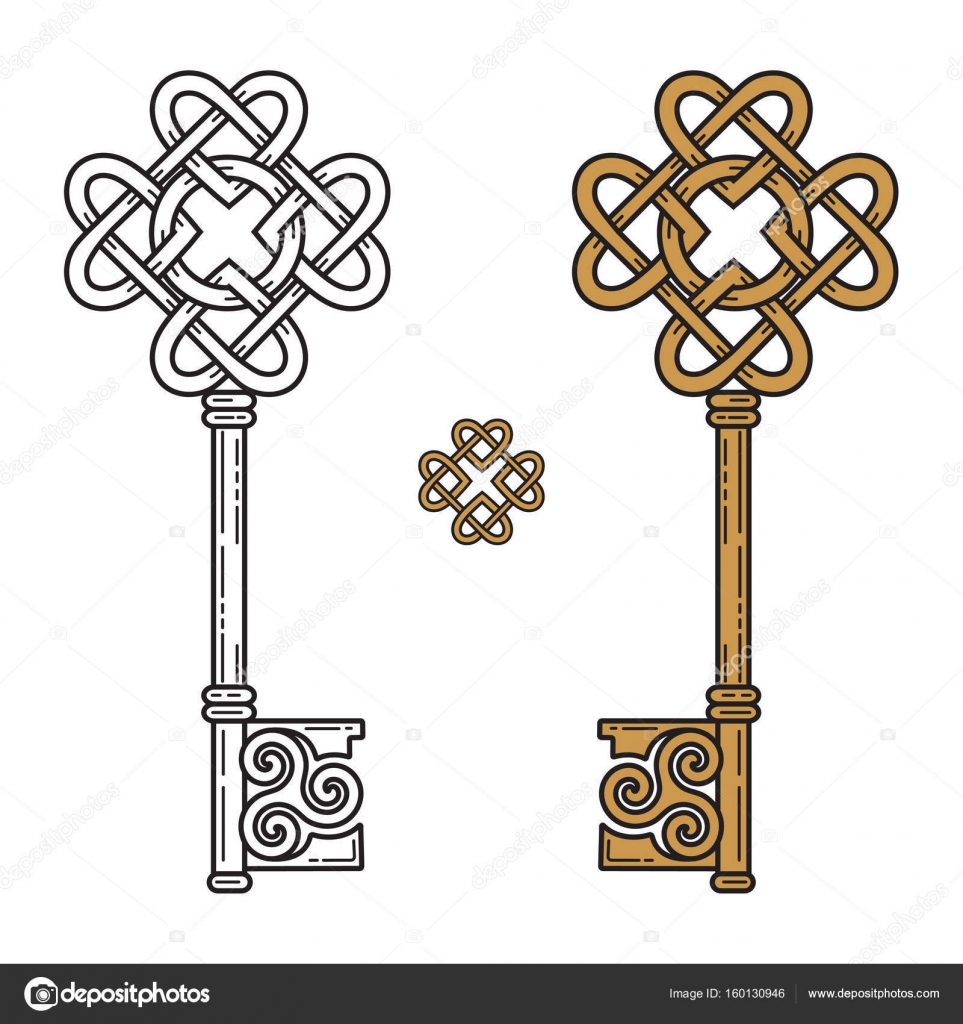 Key in the celtic style sign of wisdom stock vector bourbon key in the celtic style sign of wisdom stock vector buycottarizona