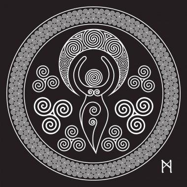 Ancient Spiral Goddess: This delicate Goddess represents the creative powers of the Divine Feminine, and the never ending circle of creation