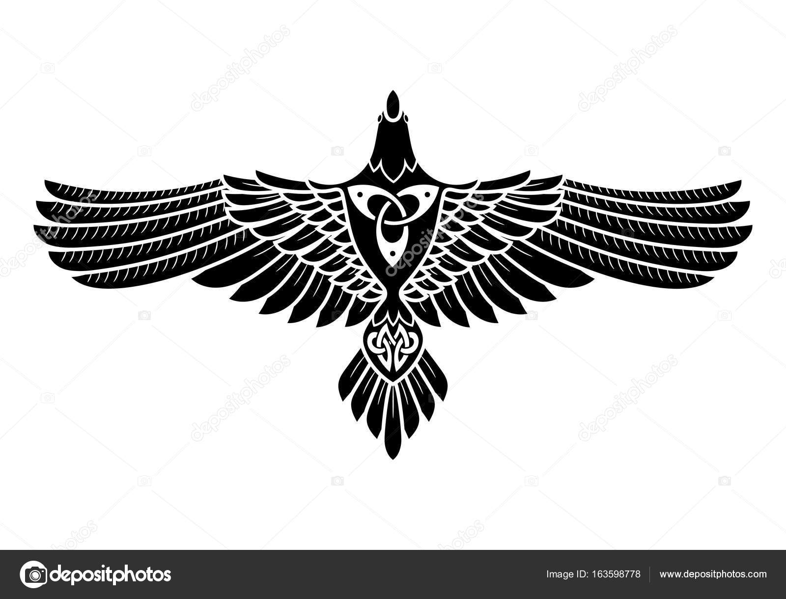 The raven of odin in norse celtic style stock vector bourbon the raven of odin in norse celtic style stock vector biocorpaavc