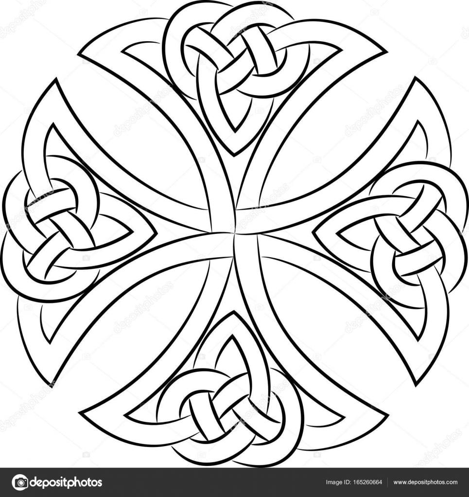 nudo celta Cruz — Archivo Imágenes Vectoriales © Bourbon-88 #165260664