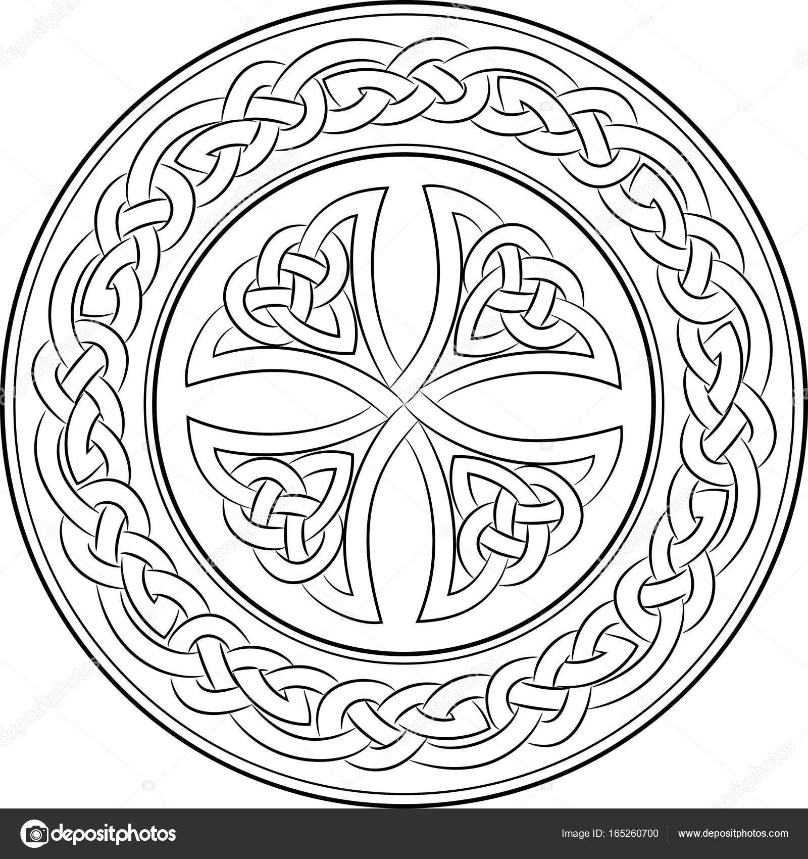 Nudo celta Cruz en guirnalda — Vector de stock © Bourbon-88 #165260700